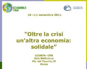 Oltre la crisi un'altra economia: solidale