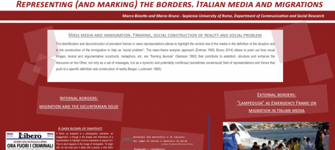 """Representing (and marking) the borders. Italian media and migrations"""