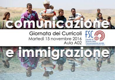 """15 novembre: """"Immigrazione ed Informazione in Italia"""""""