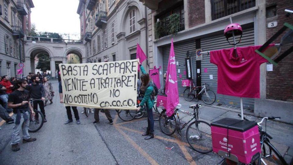 Sciopero in Foodora - i diritti nell'economia delle piattaforme